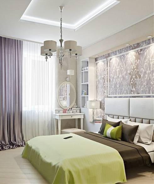 Дизайн проект квартиры в Коломягах: Спальни в . Автор – MoRo