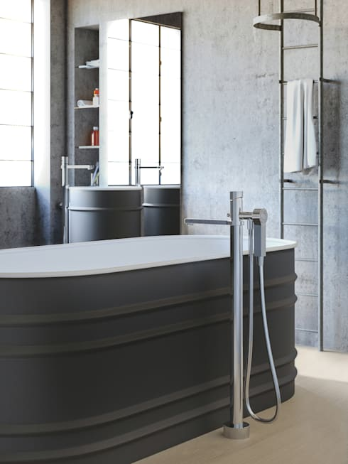 Vasca Tool: Bagno in stile in stile Industriale di Mamoli Rubinetteria