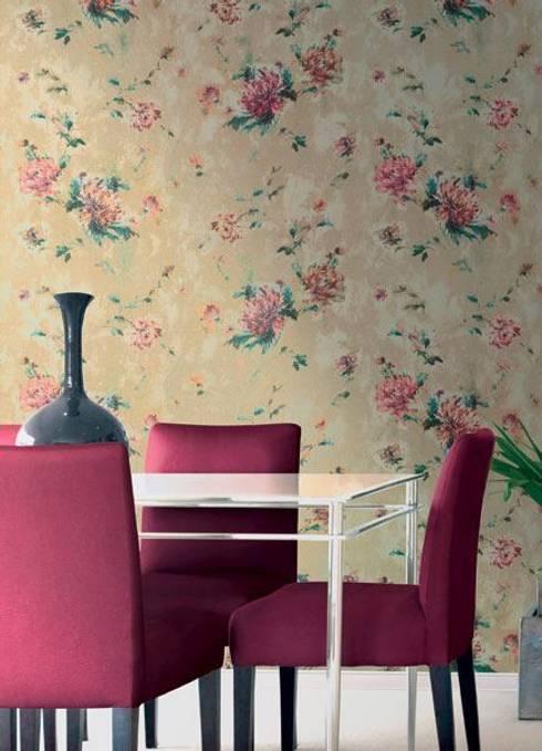 Pastel İç Mimarlık – Duvar Kağıtları: modern tarz Duvar & Zemin