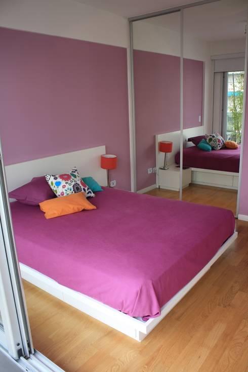 Dormitorios de estilo  por Arquitectura Laura Napoli