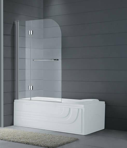Panel de bañera Glass: Baños de estilo minimalista de MAMPARASYMAS ONLINE, SLU