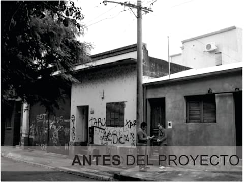 FACHADA ANTES DEL PROYECTO: Oficinas y locales comerciales de estilo  por D'ODORICO OFICINA DE ARQUITECTURA