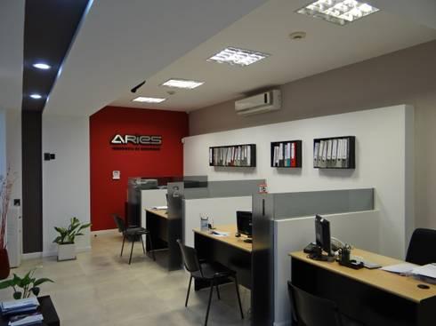 OFICINAS EN PLANTA BAJA: Oficinas y locales comerciales de estilo  por D'ODORICO OFICINA DE ARQUITECTURA