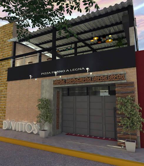 Fachada: Restaurantes de estilo  por Interiorista Teresa Avila