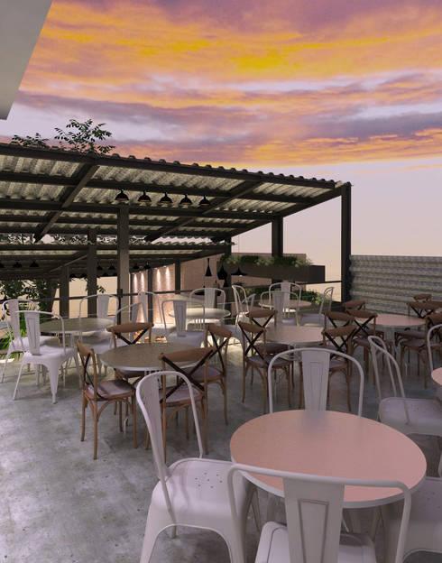 Terraza: Restaurantes de estilo  por Interiorista Teresa Avila