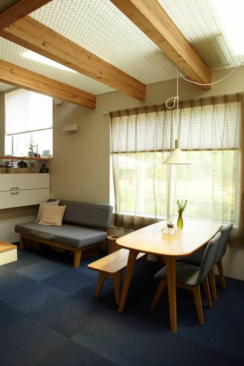 9坪ハウス+α: nido architects 古松原敦志一級建築士事務所が手掛けたダイニングです。