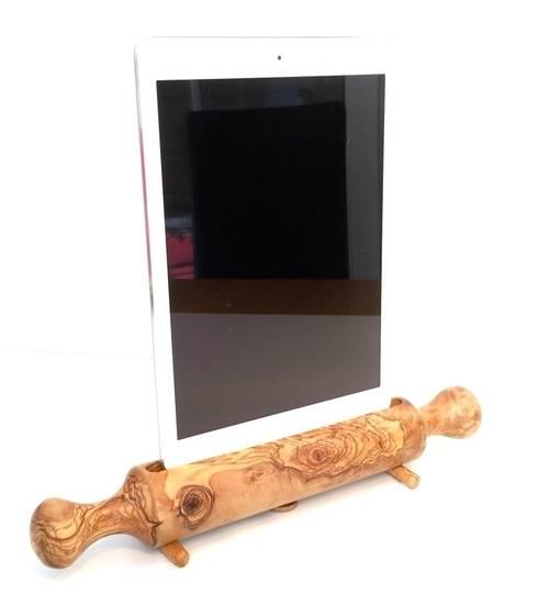 Dockingstation Ladestation Nudelholz, Teigrolle für ein Apple iPad Air:  Küche von Holz und Licht
