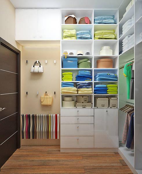 Гардеробная комната по высшему разряду: Гардеробные в . Автор – Студия дизайна Interior Design IDEAS