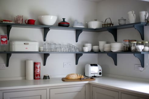 The Thatched Cottage, Suffolk | Modern Soft Grey Country Cottage Kitchen