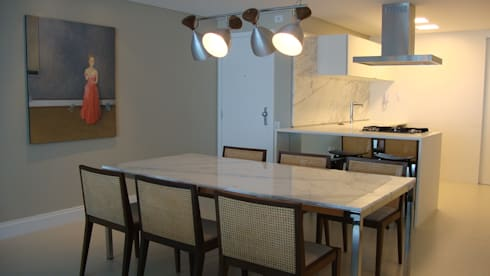 Apartamento Beira Mar: Salas de jantar modernas por Geraldo Brognoli Ludwich Arquitetura