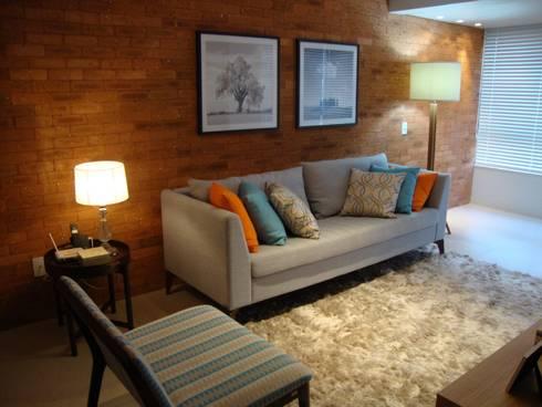 Apartamento Centro: Salas de estar modernas por Geraldo Brognoli Ludwich Arquitetura