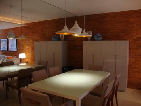 Apartamento Centro: Salas de jantar modernas por Geraldo Brognoli Ludwich Arquitetura