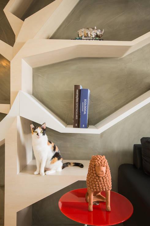 Fábrica Arquitetura: modern tarz Oturma Odası