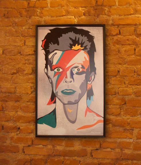 Arte/ Quadro Rockstars Allstars Bowie: Arte  por A Nave Design Audio Video