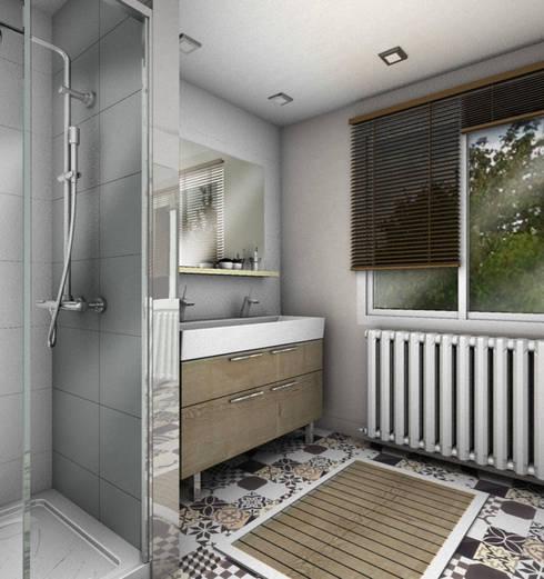 Baños de estilo  por PYXIS Home Design