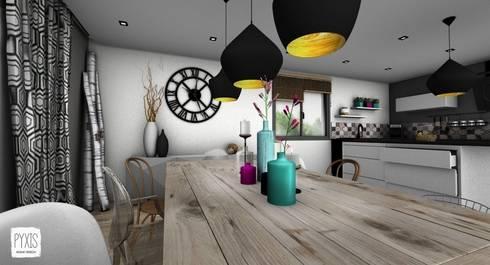 Table de salle à manger salle à manger de style de style scandinave par pyxis