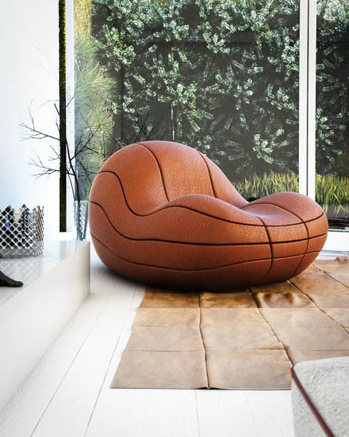 Poltrona Basquete: Sala de estar  por Mula Preta