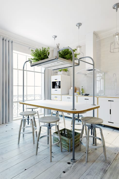 ห้องครัว by Anton Medvedev Interiors