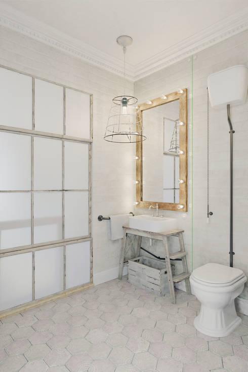 Квартира в Праге: Ванные комнаты в . Автор – Anton Medvedev Interiors