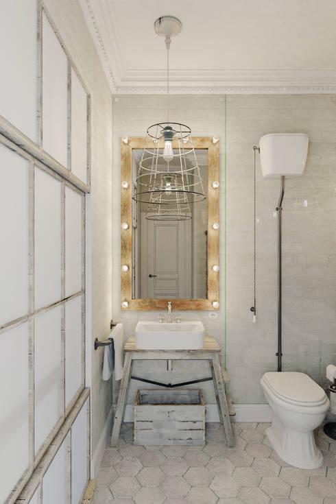 Casas de banho  por Anton Medvedev Interiors