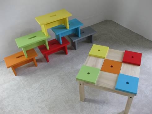 Table enfant en bois avec petit banc et rangement by - Table en bois avec banc ...