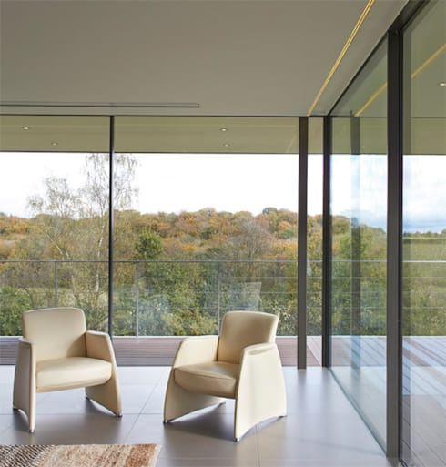 Stone House:  Living room by The Manser Practice Architects + Designers