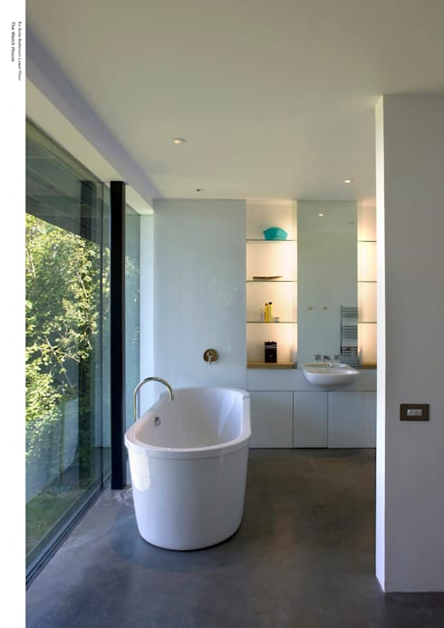 Welch House:  Bathroom by The Manser Practice Architects + Designers