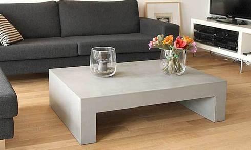 betontisch modern living room by form in funktion urbandesigners beton tischplatte abschleifen