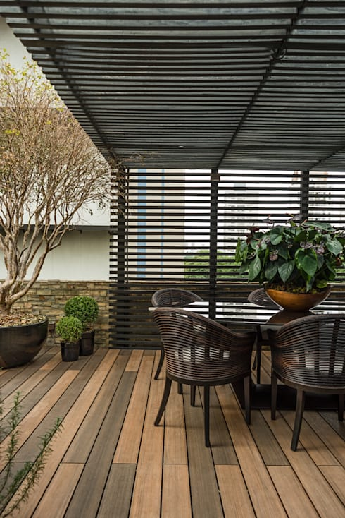 Jardines de estilo moderno por Denise Barretto Arquitetura