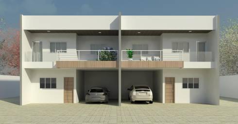Fachada: Casas modernas por Patrícia Alvarenga