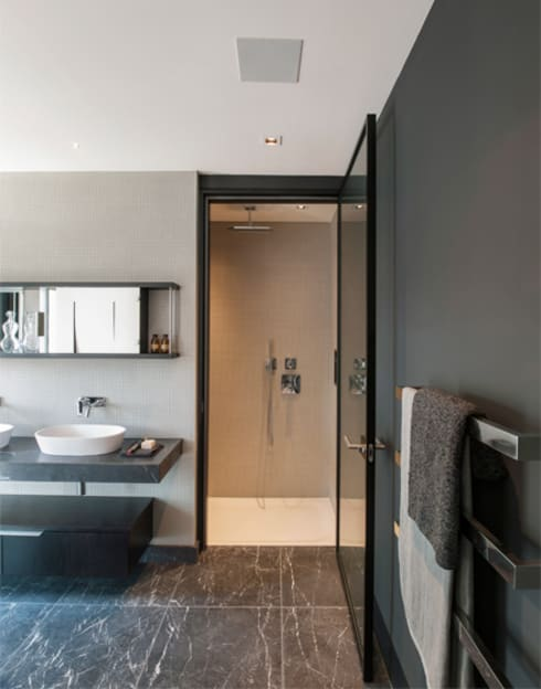 Roman House Penthouse: modern Bathroom by The Manser Practice Architects + Designers