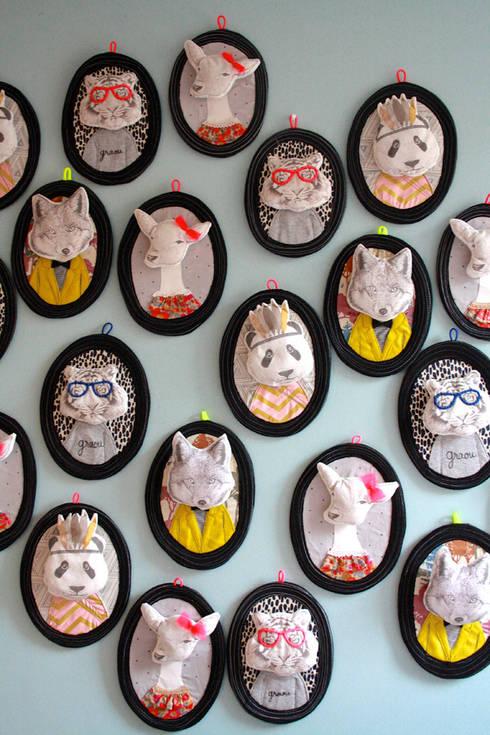 Trophées animaux Minimel : Chambre d'enfants de style  par Minimel