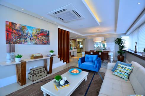 Bela Vista 01: Salas de estar modernas por Juliana Baumhardt Arquitetura