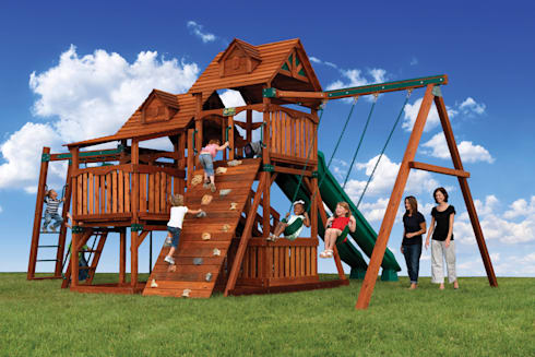 Big Climbing Frames By Climbing Frames Uk Homify