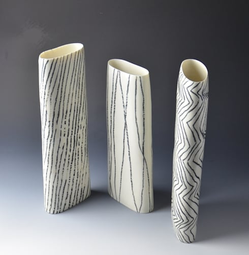 Lines - study of patterns:  Artwork by Katharina Klug Ceramics