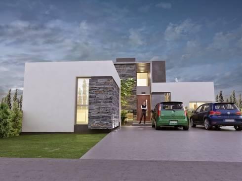Vivienda Unifamiliar en Plottier, Neuquen, Patagonia: Casas de estilo moderno por Chazarreta-Tohus-Almendra