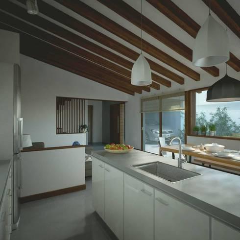 Casa CH-M: Cocinas de estilo moderno por ARstudio