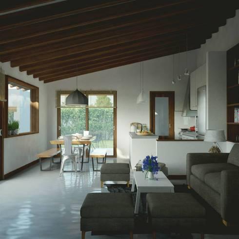 Casa CH-M: Livings de estilo moderno por ARstudio