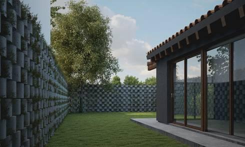 Casa CH-M: Jardines de estilo moderno por ARstudio