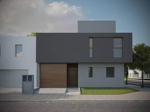 Casa CH-M: Casas de estilo moderno por ARstudio