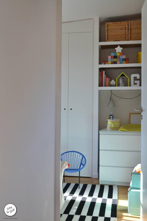Réhabilitation de maison individuelle: Chambre d'enfant de style de style Moderne par Julie Le Goff
