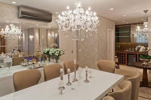 Phòng ăn by Mariane e Marilda Baptista - Arquitetura & Interiores