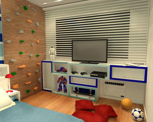 Quarto Gêmeos – Copacabana RJ: Quarto infantil  por Konverto Interiores + Arquitetura