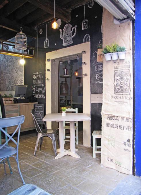 Vista Interior: Restaurantes de estilo  por Estudio Meraki