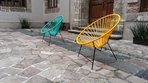 Sillas Acapulco: Jardín de estilo  por Diseñería 72ocho10