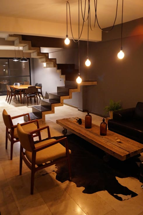 Casa Barrio de Santiago:  de estilo  por Metrik Studio