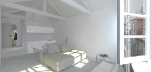 Remodelação: Quartos clássicos por B(A)ª Balthazar Aroso arquitectos, Lda