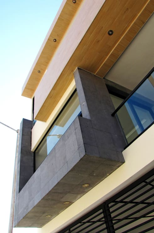 Vista Exterior- Detalle Fachada: Casas de estilo  por Estudio Meraki