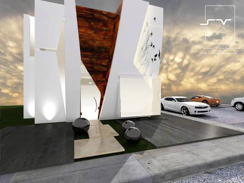 CASA ARCO: Casas de estilo moderno por Sergio Villafuerte -ARQUITECTOS-