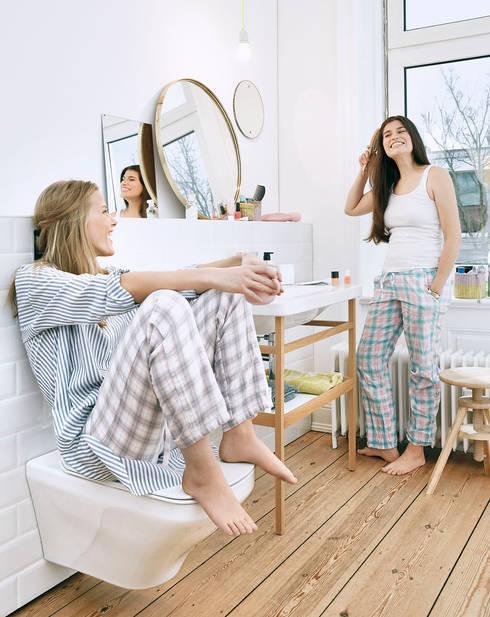 Ideas geniales para el primer baño: Baños de estilo  de Duravit España